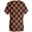 CIRCLES2 BLACK MARBLE & RUSTED METAL (R) Women s Oversized Tee View2