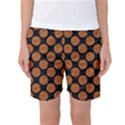 CIRCLES2 BLACK MARBLE & RUSTED METAL (R) Women s Basketball Shorts View1