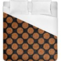 CIRCLES2 BLACK MARBLE & RUSTED METAL (R) Duvet Cover (King Size) View1