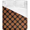 CIRCLES2 BLACK MARBLE & RUSTED METAL (R) Duvet Cover (California King Size) View1