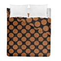 CIRCLES2 BLACK MARBLE & RUSTED METAL (R) Duvet Cover Double Side (Full/ Double Size) View1