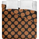CIRCLES2 BLACK MARBLE & RUSTED METAL (R) Duvet Cover Double Side (King Size) View1