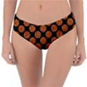 CIRCLES2 BLACK MARBLE & RUSTED METAL (R) Reversible Classic Bikini Bottoms View1