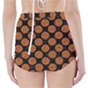 CIRCLES2 BLACK MARBLE & RUSTED METAL (R) High-Waisted Bikini Bottoms View2