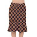 CIRCLES2 BLACK MARBLE & RUSTED METAL (R) Mermaid Skirt View1