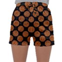 CIRCLES2 BLACK MARBLE & RUSTED METAL (R) Sleepwear Shorts View1