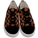 CIRCLES2 BLACK MARBLE & RUSTED METAL (R) Men s Low Top Canvas Sneakers View1