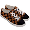 CIRCLES2 BLACK MARBLE & RUSTED METAL (R) Women s Low Top Canvas Sneakers View3