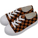 CIRCLES2 BLACK MARBLE & RUSTED METAL (R) Kids  Low Top Canvas Sneakers View2