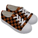 CIRCLES2 BLACK MARBLE & RUSTED METAL (R) Kids  Low Top Canvas Sneakers View3