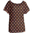 CIRCLES3 BLACK MARBLE & RUSTED METAL Women s Oversized Tee View1