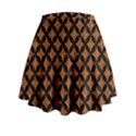 CIRCLES3 BLACK MARBLE & RUSTED METAL Mini Flare Skirt View2