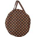 CIRCLES3 BLACK MARBLE & RUSTED METAL Giant Round Zipper Tote View2