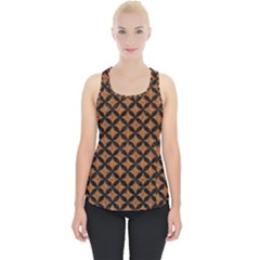 Circles3 Black Marble & Rusted Metal Piece Up Tank Top