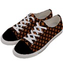 CIRCLES3 BLACK MARBLE & RUSTED METAL Women s Low Top Canvas Sneakers View2