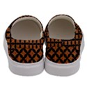 CIRCLES3 BLACK MARBLE & RUSTED METAL Men s Canvas Slip Ons View4
