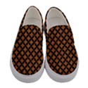 CIRCLES3 BLACK MARBLE & RUSTED METAL Women s Canvas Slip Ons View1