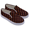 CIRCLES3 BLACK MARBLE & RUSTED METAL Kids  Canvas Slip Ons View3