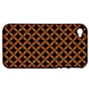 CIRCLES3 BLACK MARBLE & RUSTED METAL (R) Apple iPhone 4/4S Hardshell Case (PC+Silicone) View1