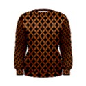 CIRCLES3 BLACK MARBLE & RUSTED METAL (R) Women s Sweatshirt View1