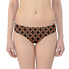 Circles3 Black Marble & Rusted Metal (r) Hipster Bikini Bottoms