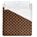 CIRCLES3 BLACK MARBLE & RUSTED METAL (R) Duvet Cover (Queen Size) View1