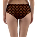 CIRCLES3 BLACK MARBLE & RUSTED METAL (R) Reversible Mid-Waist Bikini Bottoms View2