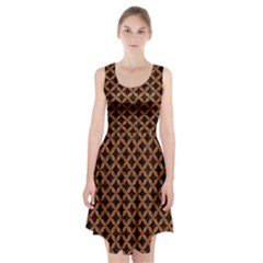 Circles3 Black Marble & Rusted Metal (r) Racerback Midi Dress