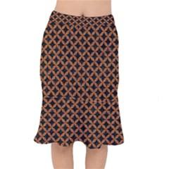 Circles3 Black Marble & Rusted Metal (r) Mermaid Skirt