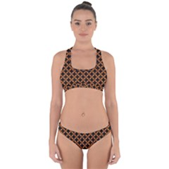 Circles3 Black Marble & Rusted Metal (r) Cross Back Hipster Bikini Set