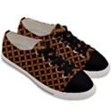 CIRCLES3 BLACK MARBLE & RUSTED METAL (R) Men s Low Top Canvas Sneakers View3