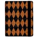 DIAMOND1 BLACK MARBLE & RUSTED METAL Apple iPad Mini Flip Case View2
