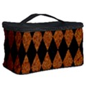 DIAMOND1 BLACK MARBLE & RUSTED METAL Cosmetic Storage Case View2