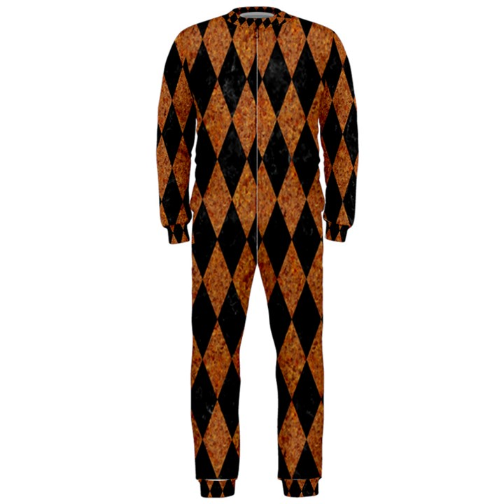 DIAMOND1 BLACK MARBLE & RUSTED METAL OnePiece Jumpsuit (Men)