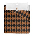 DIAMOND1 BLACK MARBLE & RUSTED METAL Duvet Cover Double Side (Full/ Double Size) View1