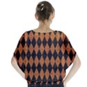 DIAMOND1 BLACK MARBLE & RUSTED METAL Blouse View2