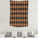DIAMOND1 BLACK MARBLE & RUSTED METAL Small Tapestry View2