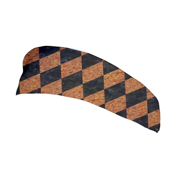 DIAMOND1 BLACK MARBLE & RUSTED METAL Stretchable Headband