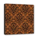DAMASK1 BLACK MARBLE & RUSTED METAL Mini Canvas 8  x 8  View1