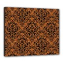 DAMASK1 BLACK MARBLE & RUSTED METAL Canvas 24  x 20  View1