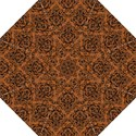DAMASK1 BLACK MARBLE & RUSTED METAL Straight Umbrellas View1