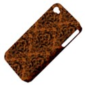 DAMASK1 BLACK MARBLE & RUSTED METAL Apple iPhone 4/4S Hardshell Case (PC+Silicone) View4
