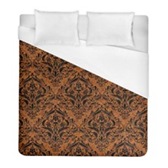 Damask1 Black Marble & Rusted Metal Duvet Cover (full/ Double Size)