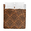 DAMASK1 BLACK MARBLE & RUSTED METAL Duvet Cover Double Side (Full/ Double Size) View1