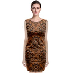 Damask1 Black Marble & Rusted Metal Classic Sleeveless Midi Dress