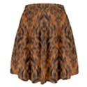 DAMASK1 BLACK MARBLE & RUSTED METAL High Waist Skirt View2