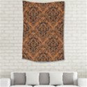 DAMASK1 BLACK MARBLE & RUSTED METAL Small Tapestry View2