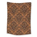 DAMASK1 BLACK MARBLE & RUSTED METAL Medium Tapestry View1