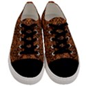 DAMASK1 BLACK MARBLE & RUSTED METAL Men s Low Top Canvas Sneakers View1