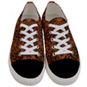 DAMASK1 BLACK MARBLE & RUSTED METAL Women s Low Top Canvas Sneakers View1